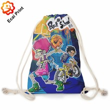 Personalized new model printing sublimated drawstring backpack bag
