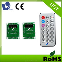 usb sd fm mp3 audio player circuit board for card reader