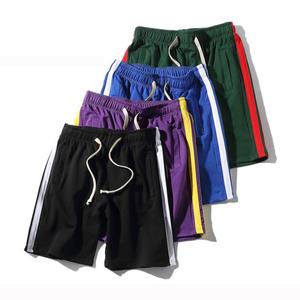 elastic waist knee length sweatpants fashion streetwear side
