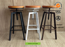 industrial loft swivel metal bar stool in stock for restaurant furniture