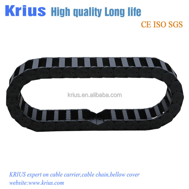 EN162 nylon plastic chain cover for CNC machine