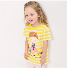 OEM/ ODM Children's T-Shirts little girl 100% cotton with high quality fabric and paint care every inch of your sweetheart skin