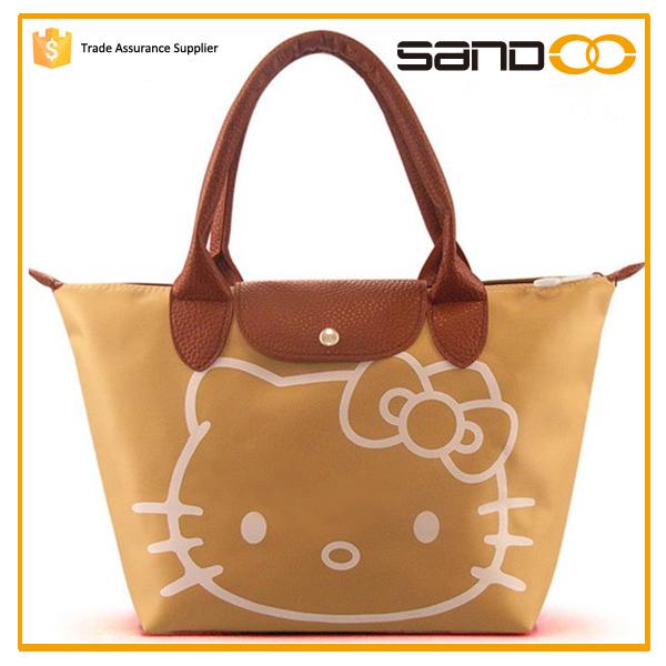 2017 free sample cheap cute tote bags with hello kitty picture