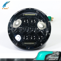 High intensive superior Round Motorcycle 12V/24V 75W LED jeep headlight