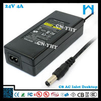 cctv power supply 24v ul listed power supply 96w led emergency power supply 4A