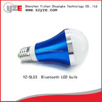 2015 newest product energy saving 5w e27 bluetooth led lamp