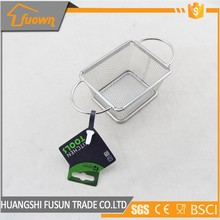Frying basket strainer with two stainless steel handle french fries cooking tools