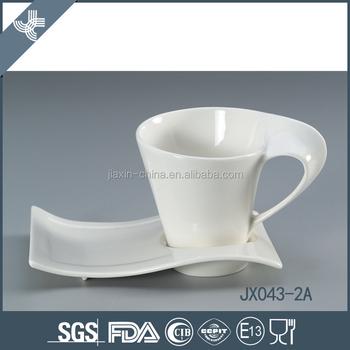 Special waveform shape saucer white cheap wholesale tea cups, View ...