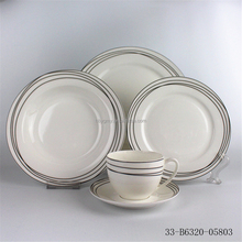 Full decor normal round bone china dinner set India