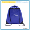 hot sale travel eco-friendly plain drawstring bag zipper front drawstring backpack