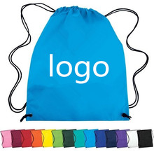 2017 cheap reusable colourful drawstring backpack non-woven school bag