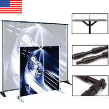 Durable Folding Vertical Exhibition Fabric Pop Up Backdrop Stand