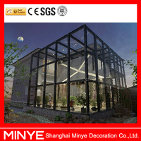 Aluminum frame glass house for sale/New design glass sunroom/versus Solarium