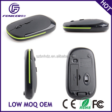 Fashion design 2.4g wireless optical flat computer mouse