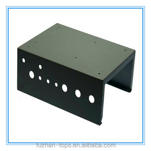 Customized Sheet Metal Fabrication Box, steel computer case, Metal Case With Black Powder Coating