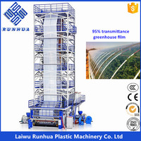 6m wide 200 microns trasparent PO greenhouse plastic film blowing machine