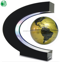 High end gift C shape base 3 inch floating globe garden gift