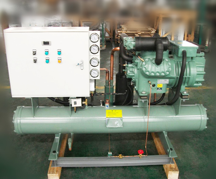 Industrial refrigerator compressor unit