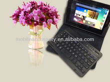 New arrival! Universal PU leather tablet case with keyboard wireless for android IOS Windows system