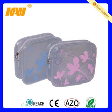 New high quality fashion frosted pvc cosmetic bag