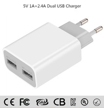 New Arrival US EU Plug Wall Chargers 5V 3.4A AC Travel Home Power Adapter OEM global multi home charger dual usb wall charger