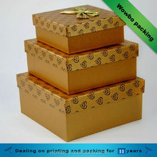 high-quality square Golden Christmas gift box for sale 2014