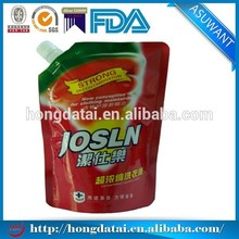 Wholesale handle washing liquid packaging bag/nozzle pouch and hang hole pouches