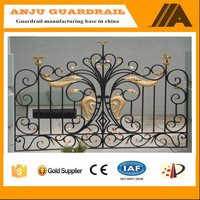 ANJU-GATE Eco friendly,weather-reistance,Trellis&gates type wrought iron sliding gate
