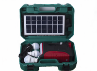 solar lighting system with 5w 10w 15w emergency light