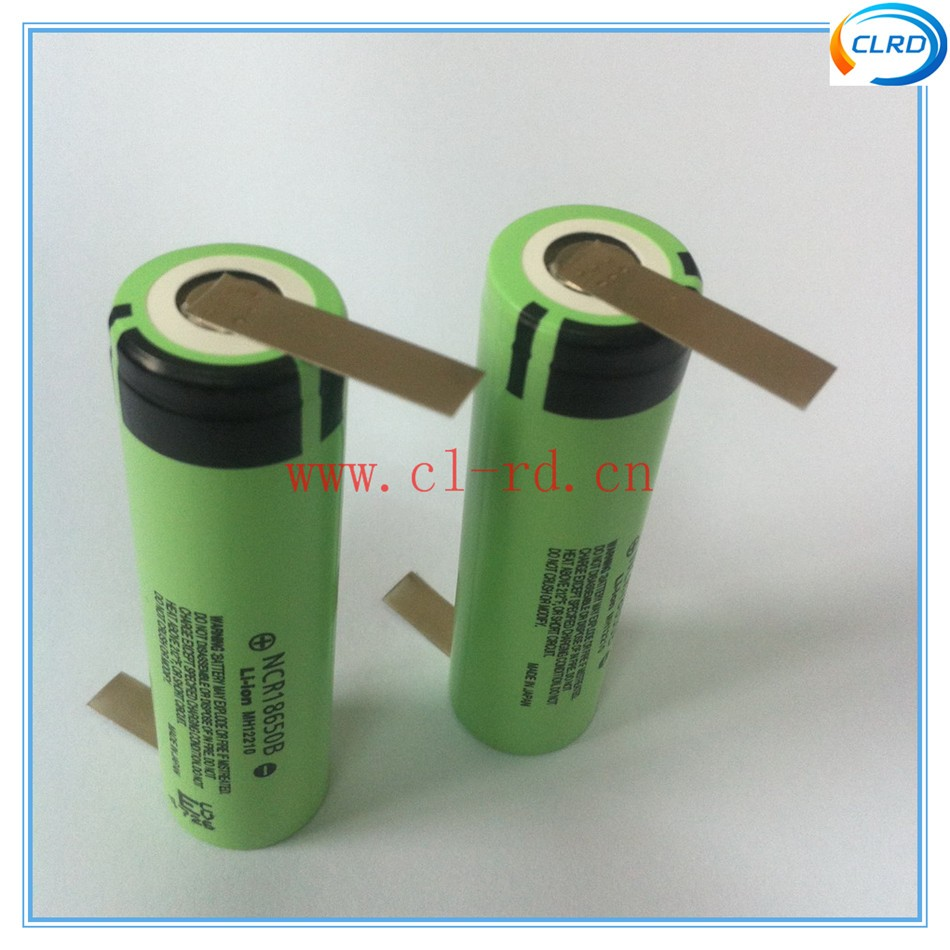 DIY power bank battery 3400mah 18650 rechargeable japan battery cells with solder tabs