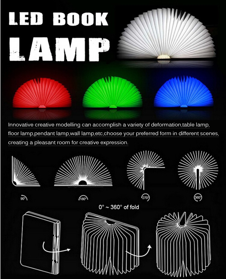 Usb Book Shape Foldable Led Lamp/Cute Night Light gift items/LED Folding lumio Book Lamp