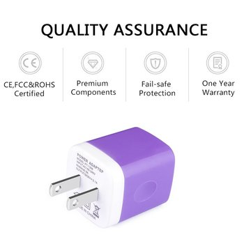 Cheapest Mobile Phone USB Phone Travel Wall Charger adapter purple