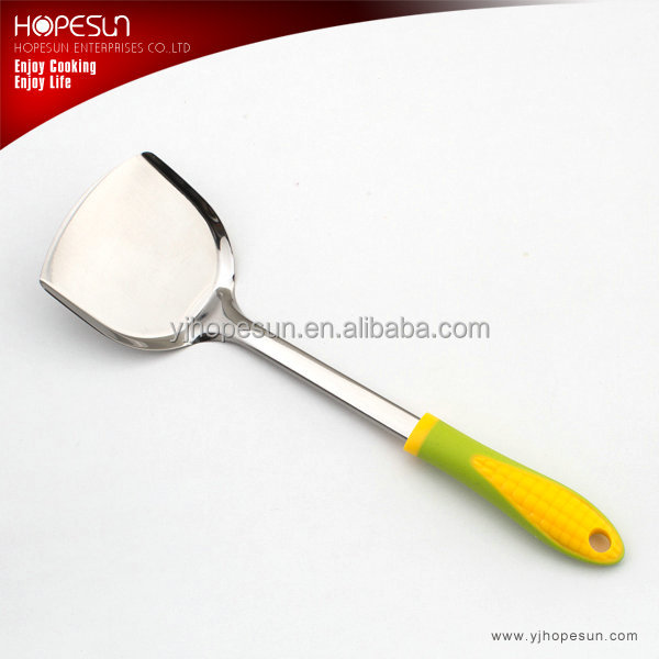 Popular high grade kitchen utensils stainless steel egg turner