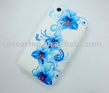 light blue TPU rubber skin case back cover for iphone 3GS,3G