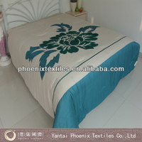 Chinese floral embroidery applique bedding