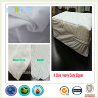 100% cotton white Terry towel allergy tested fabric for waterproof mattress protector