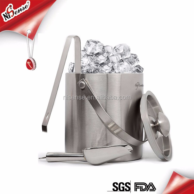 Custom metal stainless steel champagne ice bucket china