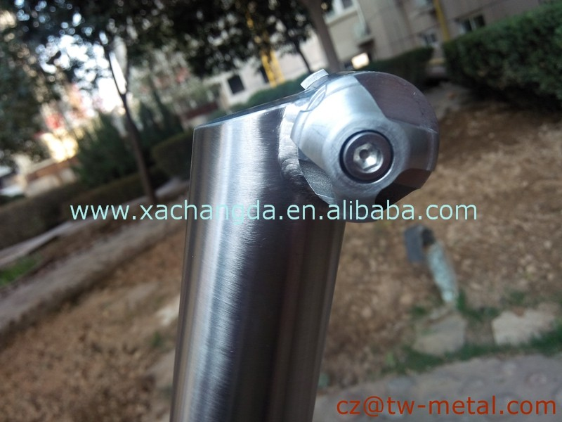 Customized titanium road bicycle frame Ti cyclocross bike frame with seat post