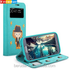 Best selling custom flip mobile phone leather case for samsung galaxy s4 i9500