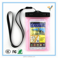 Promotional large size pvc waterproof outdoor beach bean cell phone bag