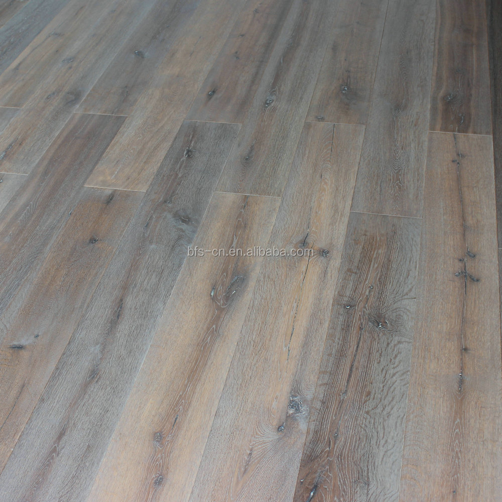 Coating by hand DE Grade Somked UV Lacquer <strong>Oak</strong> <strong>3</strong> - <strong>ply</strong> <strong>oak</strong> engineered Wood Flooring