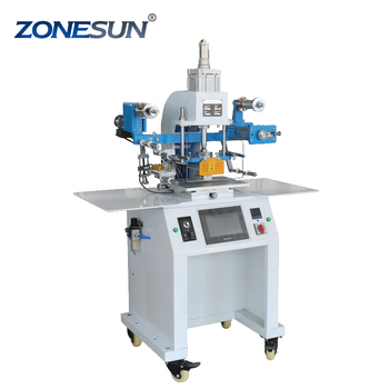 ZONESUN Automatic Heat Paper leather plastic photo hot foil cards printing stamping machine