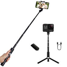Selfie stick tripod/Most Hot Sale Phone Selfie Stick With Bluetooth Remote Control Can Use As A Tripod For Phone And Camera.