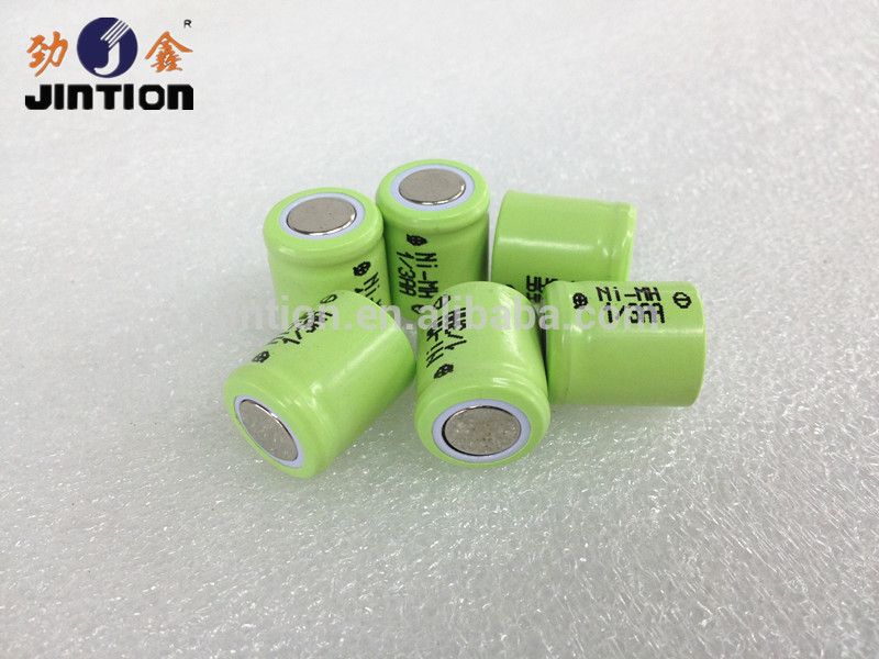 NiMH rechargeable battery 1.2v 1/3AA 300mah 16.0 mm height