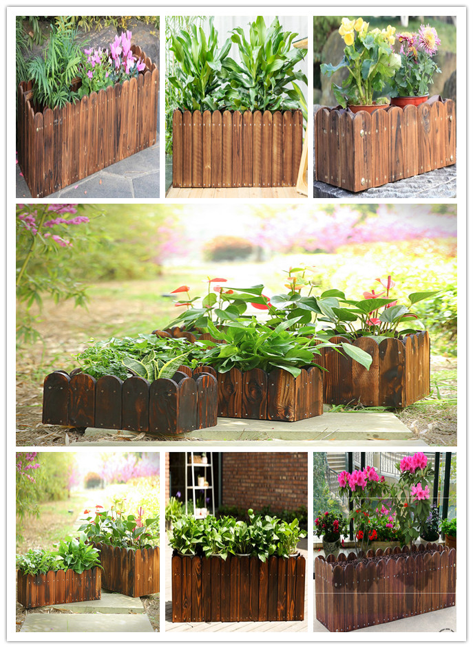 2018 new decoration wooden flower Pot