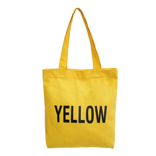 Factory Best Material Competitive Price Recycling Yellow Cotton Tote Bag