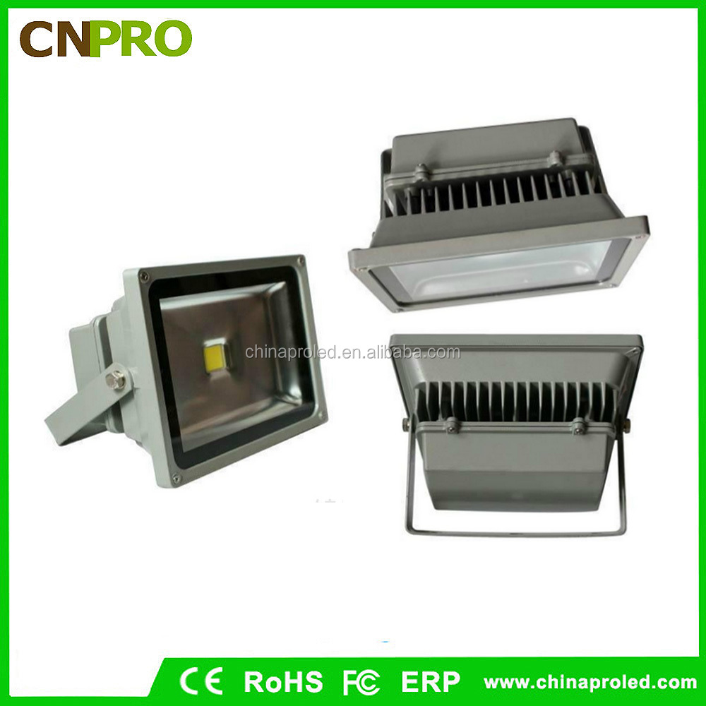 Best heat dissipation effect aluminum lamp 50w led flood light with US and EU plug
