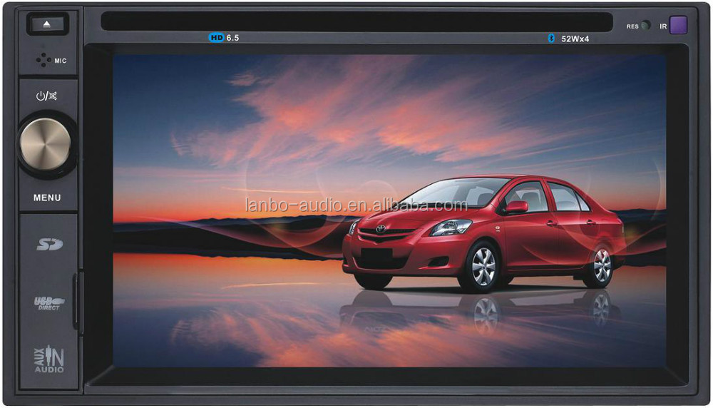 Vision car dvd player with built-in TV tuner and USB/SD card support