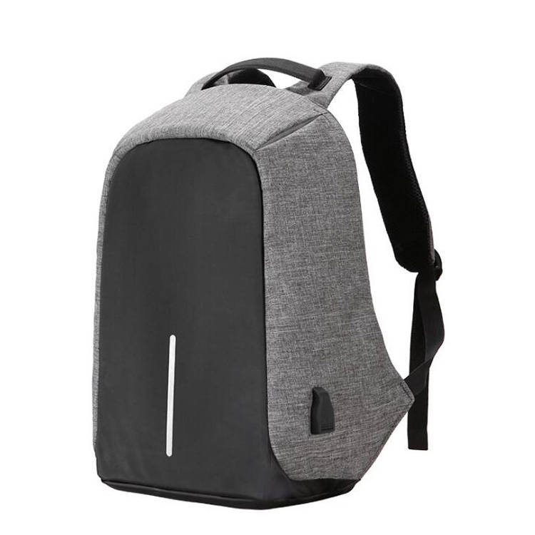 Business travel big capacity anti-theft laptop backpack with usb charging hole