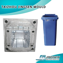 injection tall swing top lid dustbin mould / OEM Custom plastic injection Dustbin mold made in China